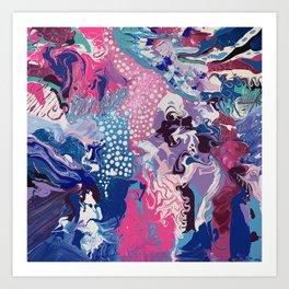 Candy Drip Art Print