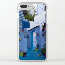 The Blue Pearl Clear iPhone Case