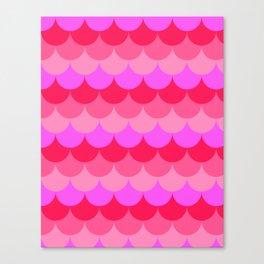 Scalloped Confetti in Neon Coral Reef Canvas Print
