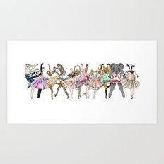Animal Ballet Hipsters LV Art Print