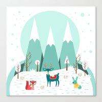 frozen Canvas Prints featuring Frozen by General Design Studio