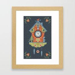 Cuckoo Clock Framed Art Print