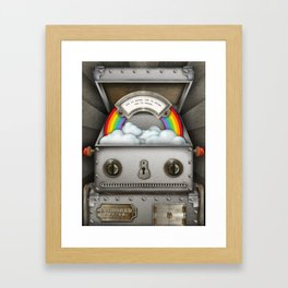 Robot suggests you let it shine. Framed Art Print