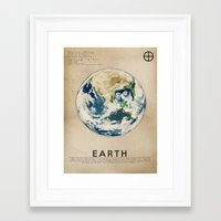 earth Framed Art Prints featuring Earth by Heather Landis
