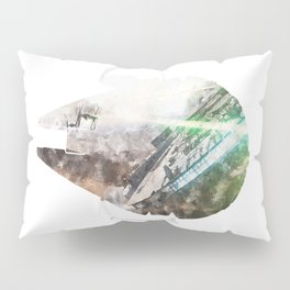 Star War Millennium Falcon - Wall Art, Poster, Print, Watercolor, Fine Art, Series 1 of 6 Pillow Sham