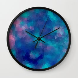 Blue-pink abstract polygonal background Wall Clock