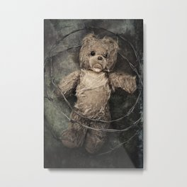 trapped teddy bear Metal Print