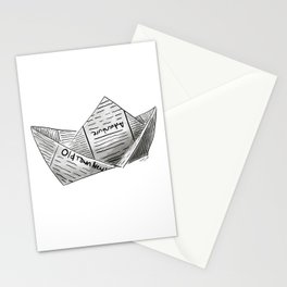 Newspaper Boat Stationery Cards