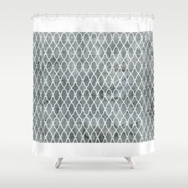 Smoke Trellis Pattern Shower Curtain