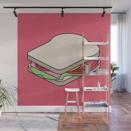 Exploded Sandwich Diagram.  Graphic Artwork Wall Mural