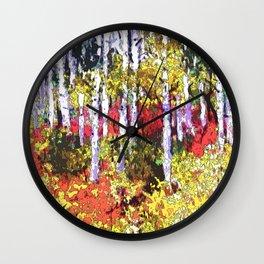 Title: Glorious Colors - digital Silk Screen Wall Clock