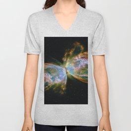 Butterfly Nebula Unisex V-Neck