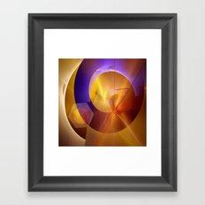 Modern abstract with a golden glow Framed Art Print