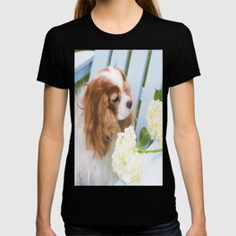 Cavalier King Charles With Hydrangeas T-shirt