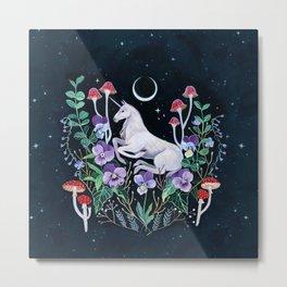 Unicorn Garden Metal Print