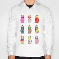 russian Hoodies featuring Russian Dollz by malobi