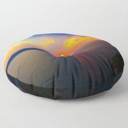 Fira,Sunset Floor Pillow