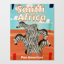 South Africa Vintage Travel poster Canvas Print