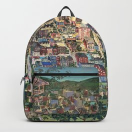 Map of Scranton Mural Print Backpack