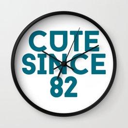 Cute Since 82 Wall Clock