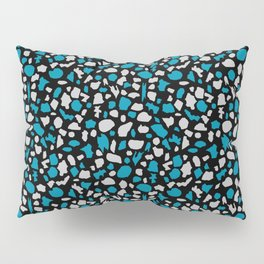 Terrazzo in Peacock Blue, Gray and Black Pillow Sham