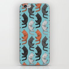 Sleeping Cats Pattern iPhone Skin