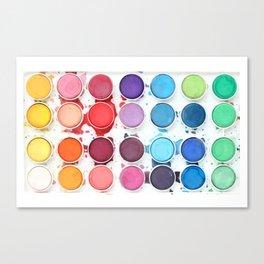 Messy Watercolors Canvas Print