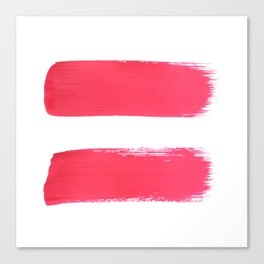 One human kind - Pink Equality Canvas Print