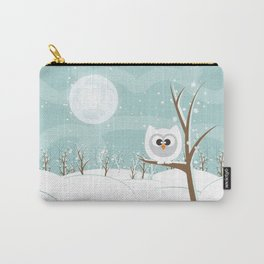 Arctic Owl Carry-All Pouch