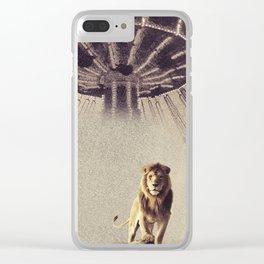 Luna Park Lion Clear iPhone Case