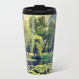 Zen Meditation Lily Pond Travel Mug