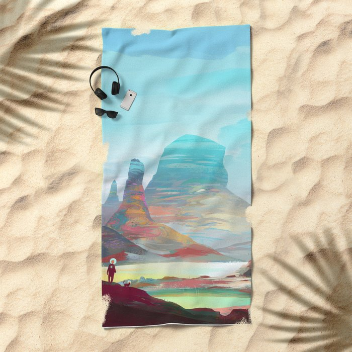 On another planet 2 Beach Towel