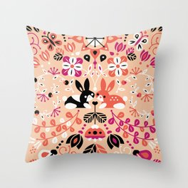 Bunny Lovers Throw Pillow