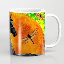 HORSE MOON AND DRAGONFLY VISIONS Coffee Mug