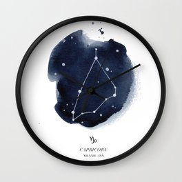 Zodiac Star Constellation - Capricorn Wall Clock