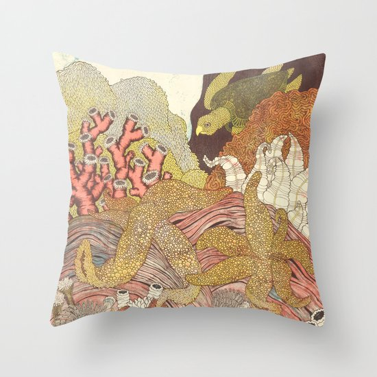 Aquatic Throw Pillow