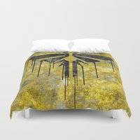 the last of us Duvet Covers featuring The Last Of Us Fireflies (Black) by Some_Designs