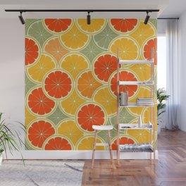 Summer Citrus Slices Wall Mural