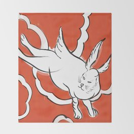 Bowie - Japanese Bunny Throw Blanket