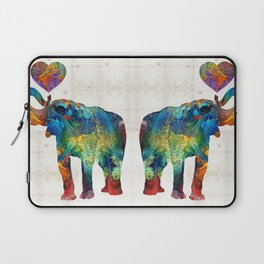 Colorful Elephant Art - Elovephant - By Sharon Cummings Laptop Sleeve