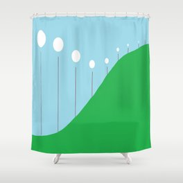 Abstract Landscape - Lights on the Hill Shower Curtain