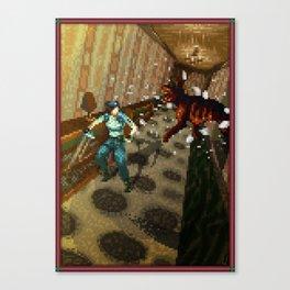 Pixel Art series 10 : Dogs Canvas Print