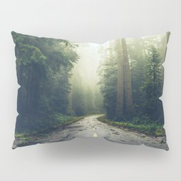 Redwood Forest Adventure - Nature Photography Pillow Sham