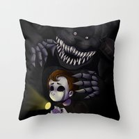 fnaf Throw Pillows featuring NIGHTMARE by Awful-Critter
