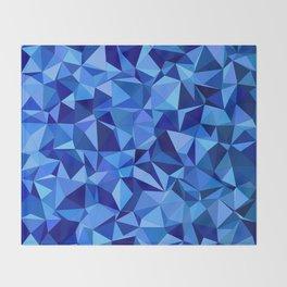 Blue tile mosaic Throw Blanket