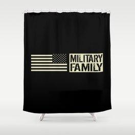 U.S. Military: Military Family (Black Flag) Shower Curtain