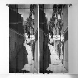 mountain biking stairs pula city croatia europe black white Blackout Curtain
