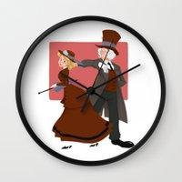 valentine Wall Clocks featuring Valentine by Brianna