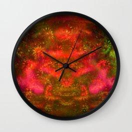 Luminous Fireplace Wall Clock