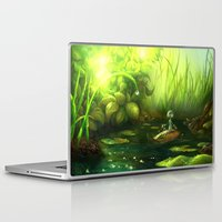 neil gaiman Laptop & iPad Skins featuring Solitude through the leaves, by Neil Price by Neil Price